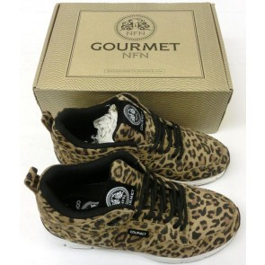 Gourmet NFN Womens The 35 Lite LP - Animal Print/White - UK Size 4.5