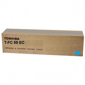 Original Toshiba 6AG00002318 / T-FC55EC Toner (cyan, approx. 26,500 pages) for E-Studio 5520, 6520, 6530