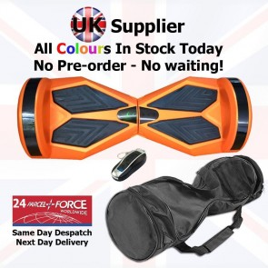 Xboard Self Balancing Scooter (Hoverboard) 8 inch wheels + Carry Case + Remote - Orange with Black Pads