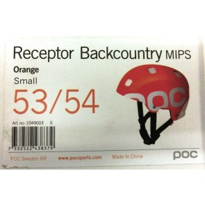POC Receptor Backcountry MIPS Helmet Orange Unisex Size 53/54 Small