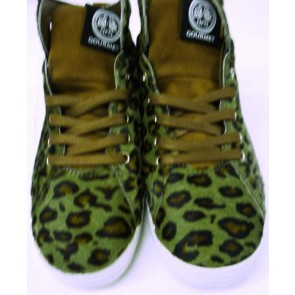 Gourmet NFN Womens Uno CP - Olive Leopard/White - UK Size 4.5