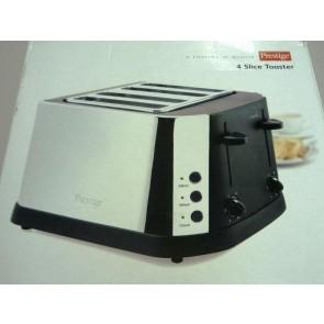 Prestige Black/Chrome 4 Slice Toaster - Box Open